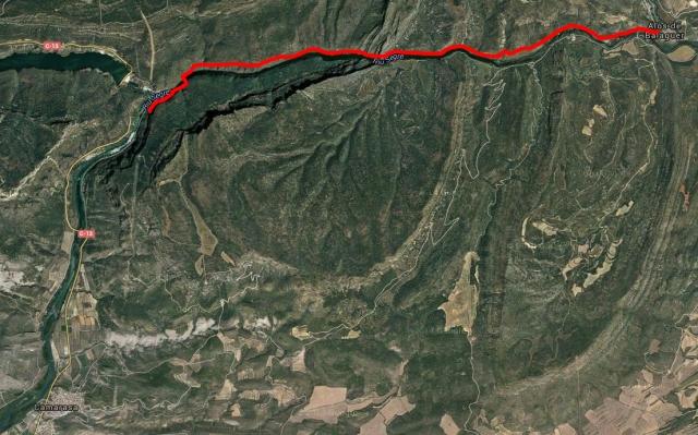 Mapa Ruta Camarasa-Alòs